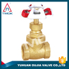gate valve iron handwheel brass gland nut brass gasket brass stem knife gate valve in OUJIA VALVE FACTORY