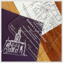 Customized Acrylic Birthday Invitation Cards For Happy 50th Souvenir