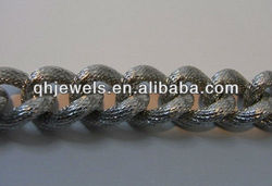 New product stainless steel chain block for fashion jewelry