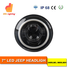 7 Inch LED Headlight for Jeep Wrangler Daytime Running Light with Angle Eye