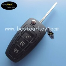 Latest smart best car key for ford remote 3 button 433MHZ 4d60 key Ford Mondeo key