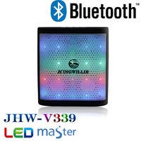 Kingwon wireless flashed led mini bluetooth motivity speaker