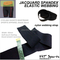 Soft feeling nylon spandex Running underwear Cycling shorts Nylon strap Jacquard Elastic webbing