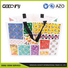 pp reusable/recycled non woven cheap shopping tote bag with doubk face shiny lamination