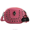 Latest college girls shoulder bags,cell phone shoulder strap bags,ladies shoulder bags with metal rivet