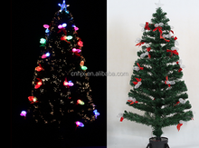 Colorful Fiber Inner Ornament Artificial Christmas Tree With Top Star, National High Quailty Christmas Tree