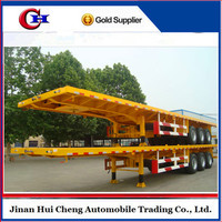 china truck trailer supplier supply 3 axles flatbed semi trailer with best price sales