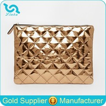 Brand Designer Metallic Quilted Clutch Bag PU Leather Clutch Bag