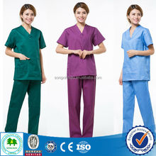 China wholesale Printed scrubs hospital/Printed medical scrubs/Fashion print scrubs for medical supply