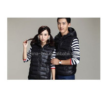 balck polyester body warmer vest for gilrs and boy