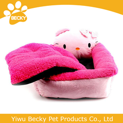 Cute pink cat kit lovely pet sofa dog bed puppy house