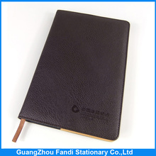 2015 custom school diary cover notebook design with leather cover