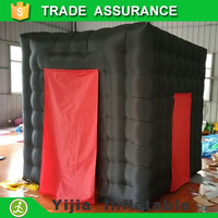 DHL free ship Black Cube Exhibition Tent Inflatable Photo Booth