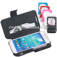 Genuine Real Leather Case Flip Cover Card Slot Wallet for Samsung Galaxy S4 Zoom C101 SM-C101