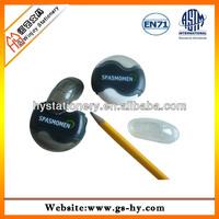 Round pencil sharpener with eraser