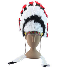 wholesale cheap indian feather headdress FW-0089