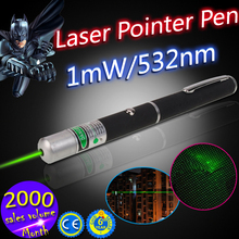 2015 New Products Wholesale High Power 1mW 532nm Green Laser Pointer for Christmas Gift
