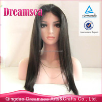 AAAAAA grade india sexi women long wig silky straight natural brown color 30inch