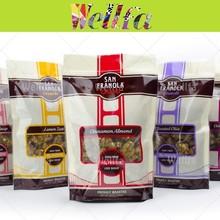 Impresión brillante Granola embalaje bolsa con la ventana y Zip Lock