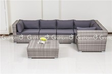 cane and bamboo furniture 7 seater sofa set