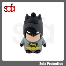 2015 high quality and low price batman shape silicon usb disk 8g