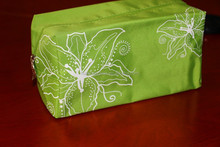 Green makeup bag