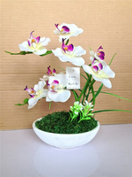 JY artificial orchids wholesale handmade flower for wedding decoration