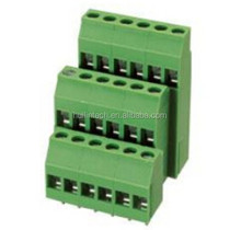 Screw triple levels pitch 5.08mm plastic Dinkle electrical terminal block