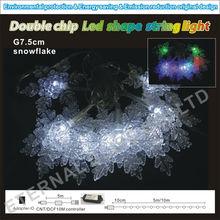 led christmas acrylic snowflake string light