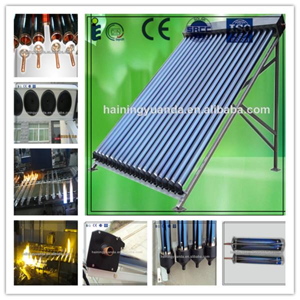 Sous pression tubulaire caloduc capteur solaire chauffage for Piscine a tube
