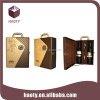 hot sell luxurious crocodile grain wine bottle carrier