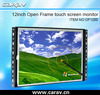 "12"" wall mount touch lcd PC with 4-wire resistive touch panel, VGA, S-VIDEO, COM port"