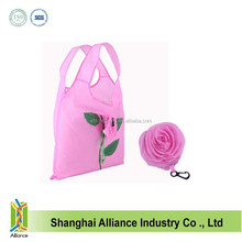 Top Sale Nylon 190T or 210D Flower Printed Foldable Shopping Bags