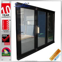 AS2047 Australian standard door with folding system in cool black