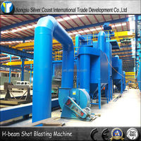 Roller Bed Convey Type H beam Shot Blasting Machine with CE