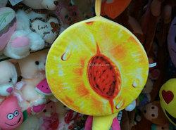 Custom High Quality Plush fruit cushion for sale fruit shaped cushion,orange plush toy,fruit shaped pillow lemon