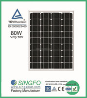 18v 80 watts high quality cheap price china manmade solar panel in india market