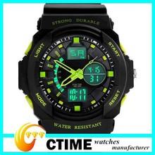 Shock Resistant Waterproof Dive Digital Sports Watches Time Zone Wristwatch
