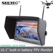 10.1 inch fpv monitor support video format PAL NTSC high brightness built-in integrated lipo battery rc jet engine