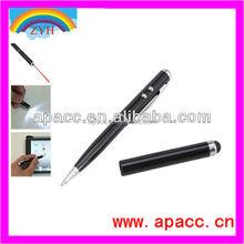 laser pointer led light ball pen 4 in 1 stylus pen for samrtphone