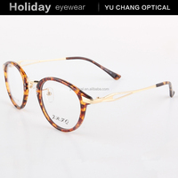 tr90 eyewear wholesale round rim eyeglasses for girls with metal parts for reading glasses