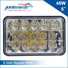 Best Gold Trade Supplier 5 Inch Square Head Light Combo Beam 45W Led Light Head For Truck