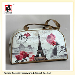 Paris eiffel tower Printing leather PU Duffel Bag Large fashion travel and sports bags