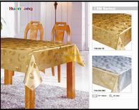 Resplendent gold and silver glitter plastic sheet PVC table cloth