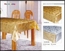 Resplendent gold and silver glitter plastic sheet PVC table cloth
