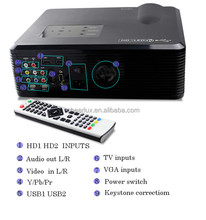 lowest price LED LCD Beamer 3D support blue / ray DVD player