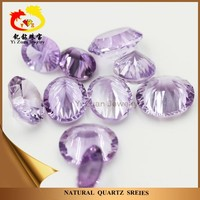 New product millenium cut gems oval shape natural raw crystals