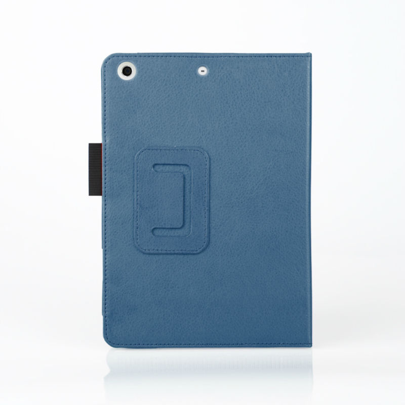 Book style stand durable case for ipad mini,Lychee grain PU leather case for ipad mini