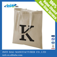 Recyclable Customized Canvas Tote Bag/Standard size tote bag blank