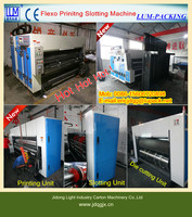 High speed flexo 2 3 4 color of printer slotter die cutter stacker machine/packaging machine/used corrugated box machinery CE